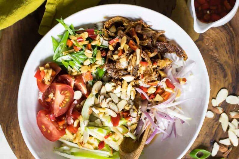 Paleo Crispy Thai Chicken Salad