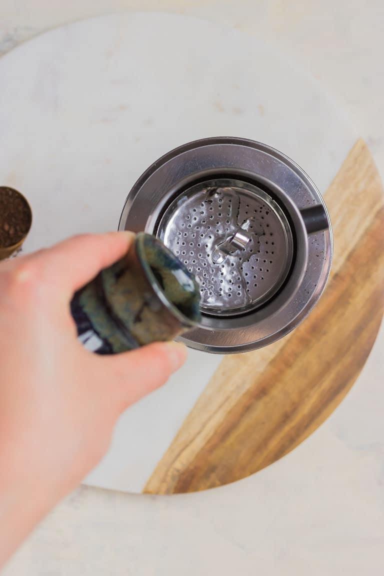 Paleo Coconut Milk Vietnamese Iced Coffee with Vietnamese Coffee Maker Phin