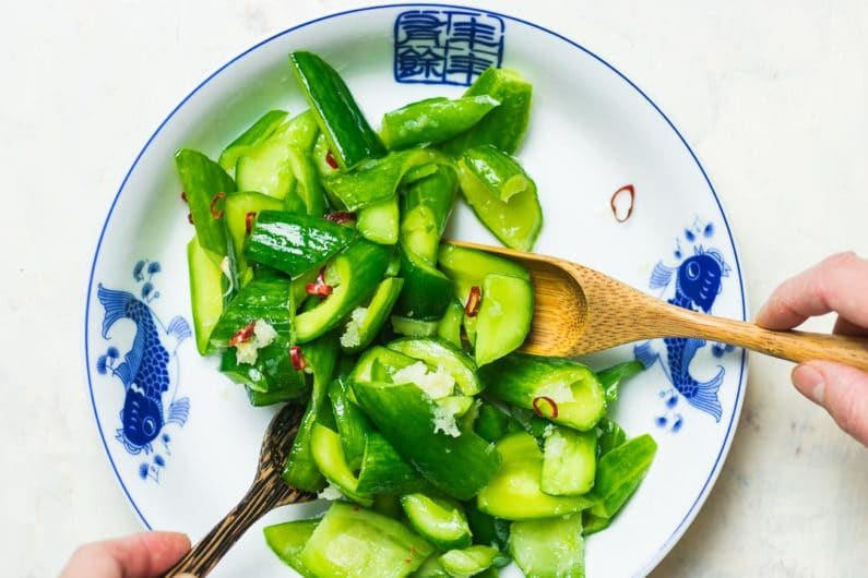 Easy Chinese Smashed Cucumber Salad