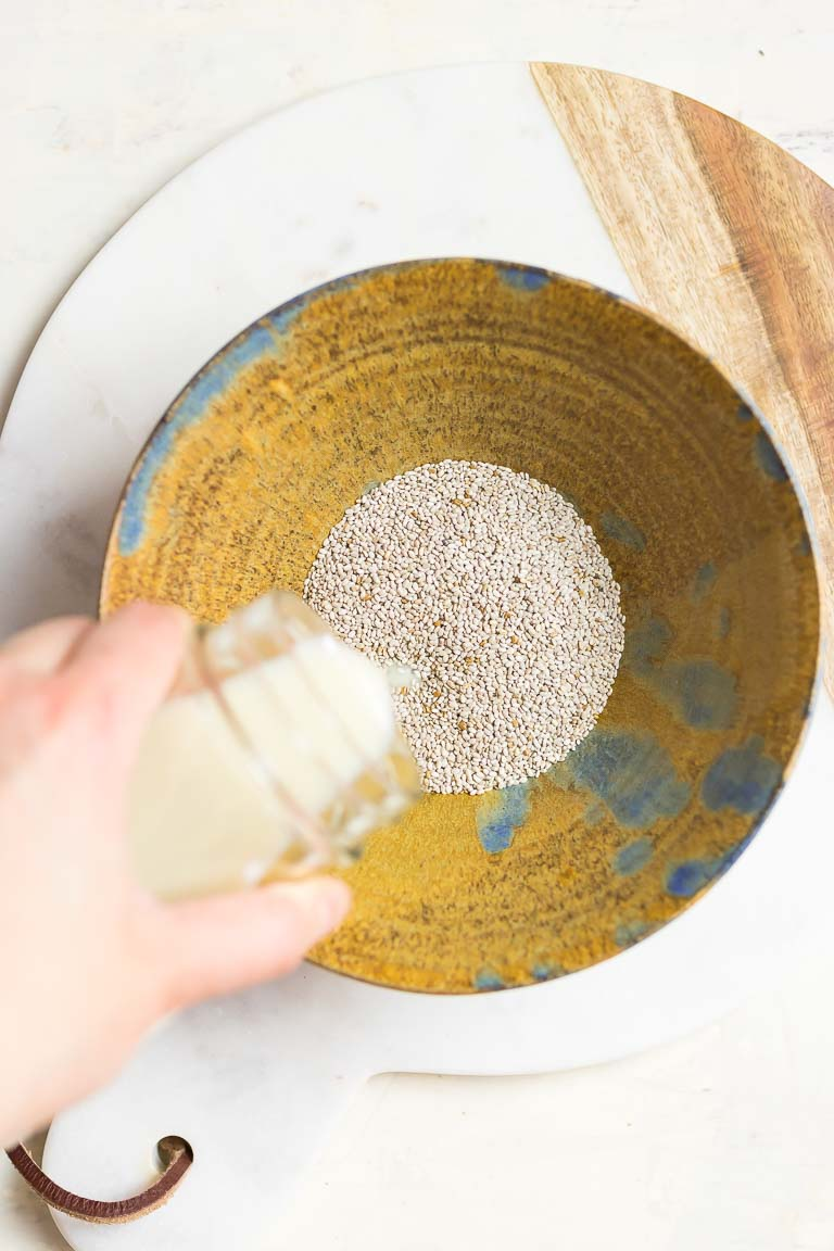 How to soak chia seeds