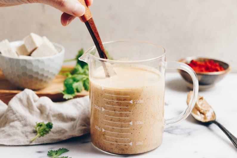 Paleo Easy Thai Peanut Sauce is Whole30 and peanut-free with nut-free option.