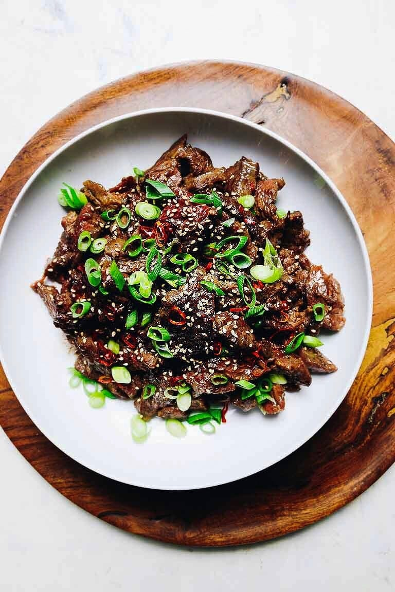 How to make a beef stir fry with Asian beef marinade recipe from I Heart Umami.