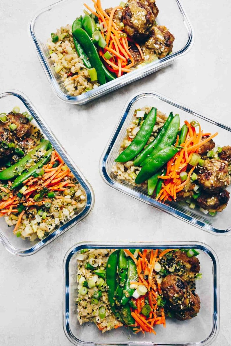 Paleo Meal Prep Gyoza Meatballs also known as Chinese Potsticker meatballs for healthy easy meal prep from I Heart Umami.