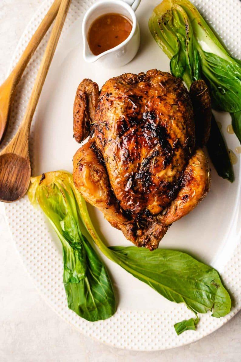 Air fryer rotisserie chicken recipe