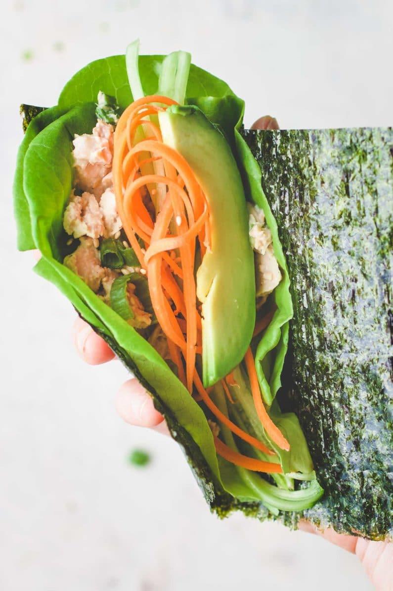 how to make tuna temaki sushi