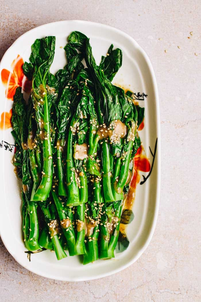 Gai Lan with Vegetarian Oyster Sauce I Heart Umami