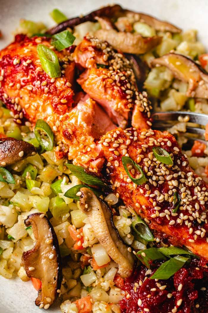 Asian Salmon Recipe Whole30 Paleo I Heart Umami