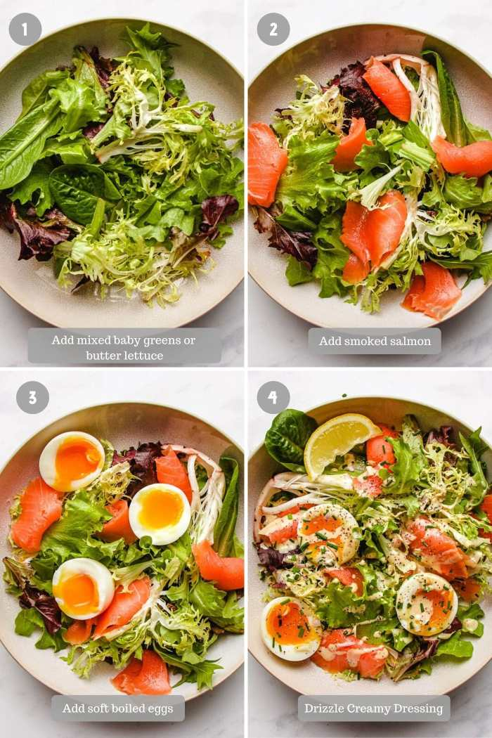 how to make smoked salmon salad I Heart Umami