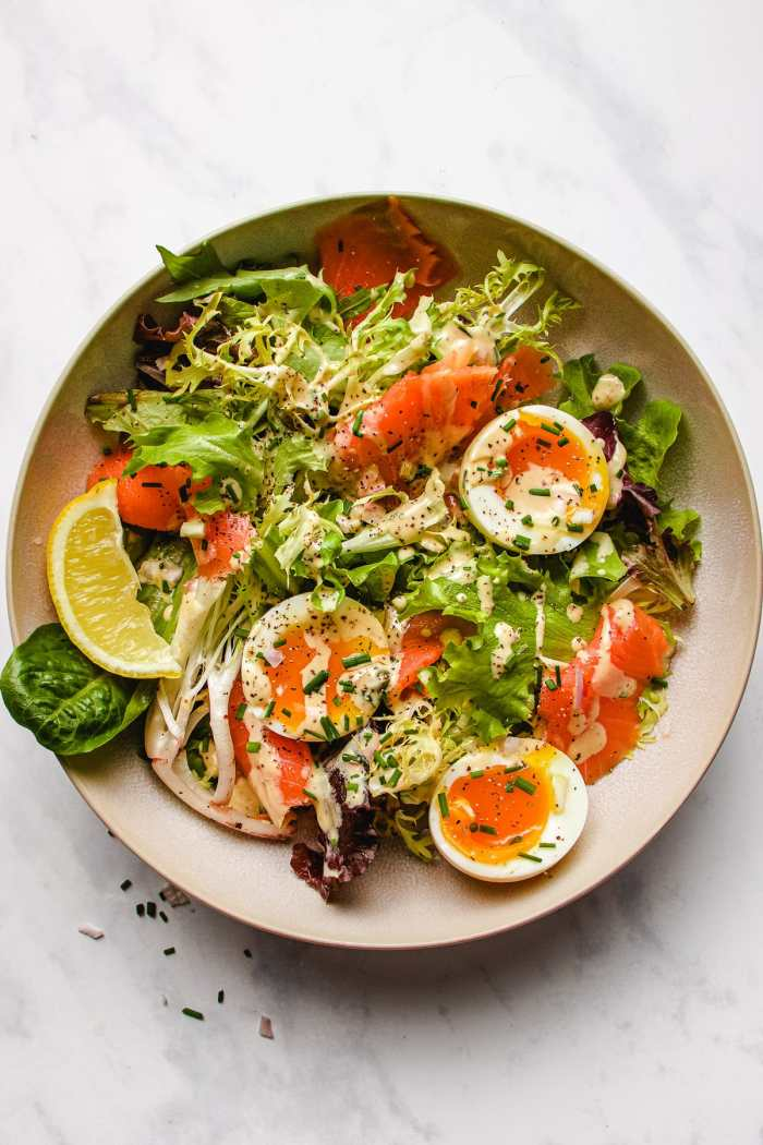 Easy keto smoked salmon salad recipe I Heart Umami