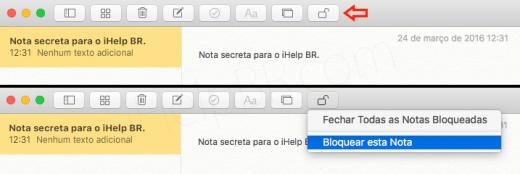 Senha Notas OS X 1