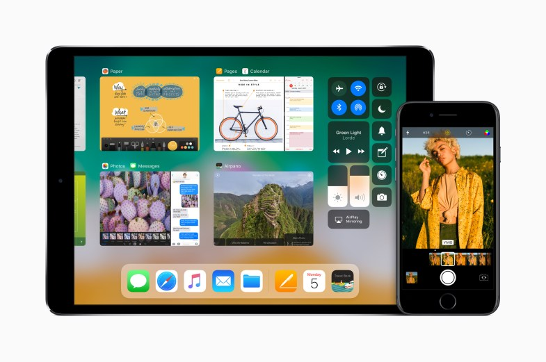 iOS 11 no iPad e iPhone.