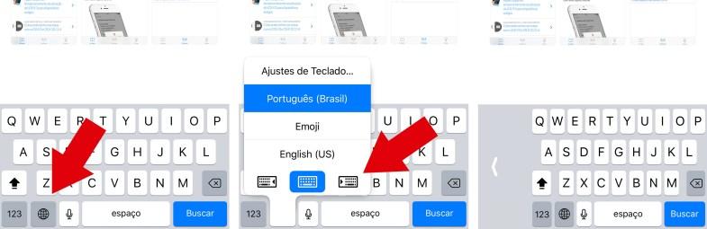 Teclado no iOS 11.
