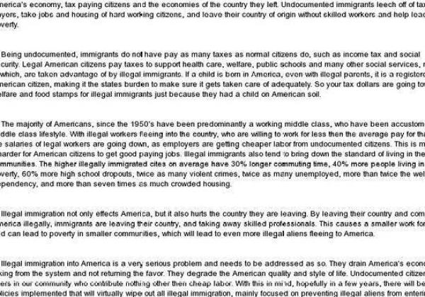 Research papers on illegal immigration