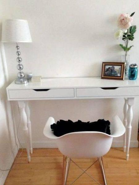 My writing desk schreibtisch ikea made to slide in and