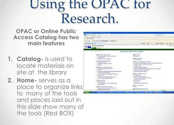 Online public access catalog thesis writing