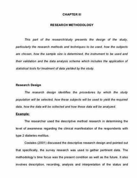 Research methodology writing thesis paper cogent rationale for the decisions