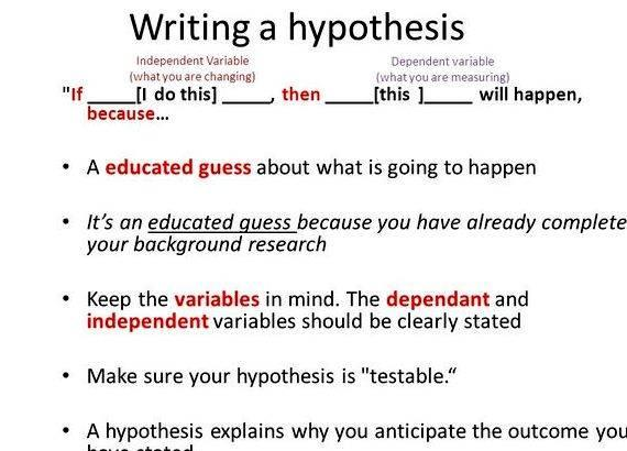 Writing If Then Hypothesis Worksheets
