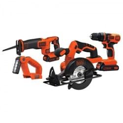 ihocon: Black & Decker BD4KITCDCRL 20V MAX Drill/Driver Circular and Reciprocating Saw Worklight Combo Kit