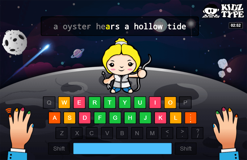 Practice Home Key Typing Games