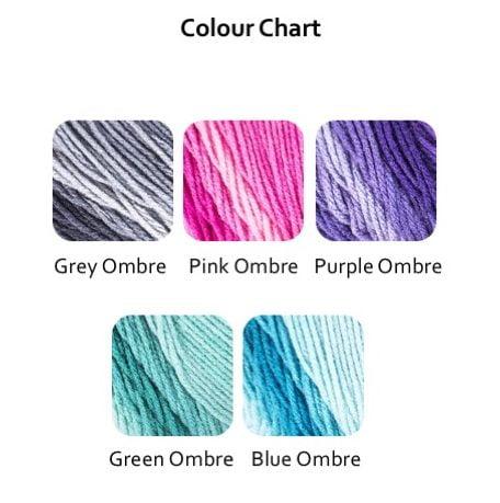 Ombre Colour Chart