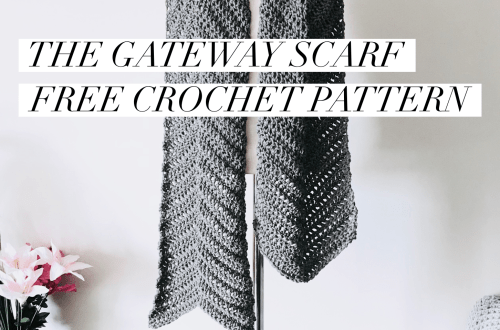 Gateway Chevron Scarf Crochet Pattern