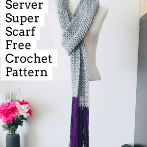 Server Super Scarf Crochet Pattern