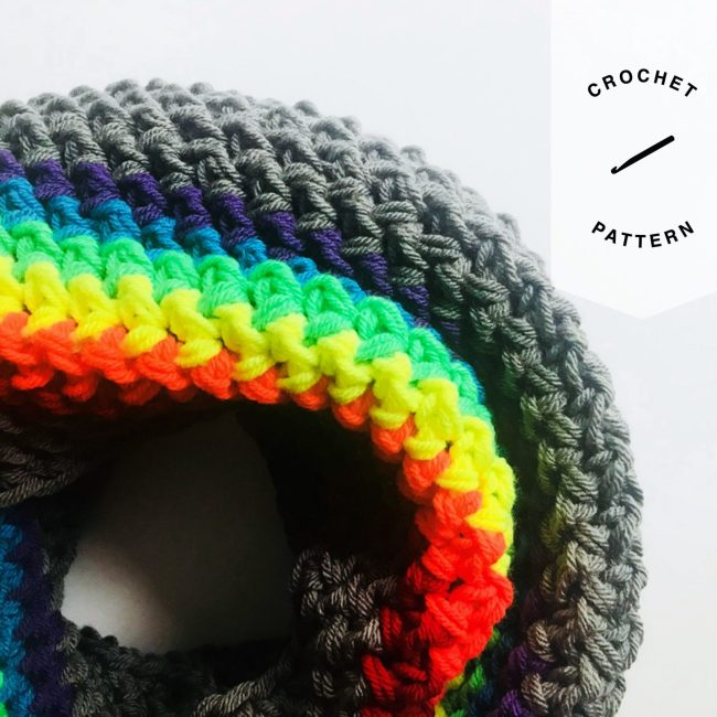 Rainbow Icon Infinity Crochet Pattern