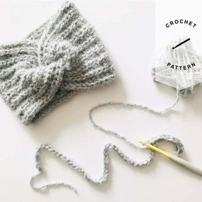 Hashtag Headband Crochet Pattern