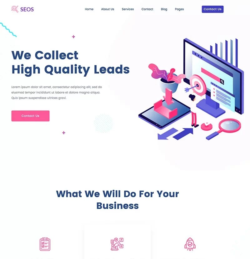 Beaytiful Static Website – Seos