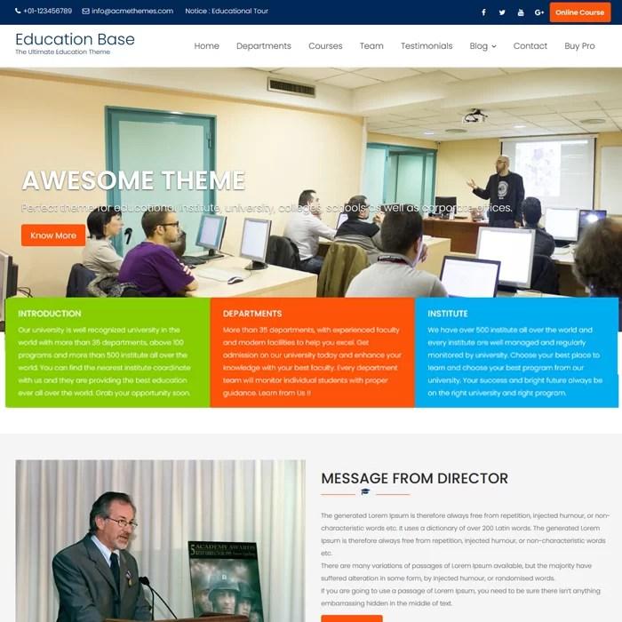 Beaytiful Dynamic Website – Education Base