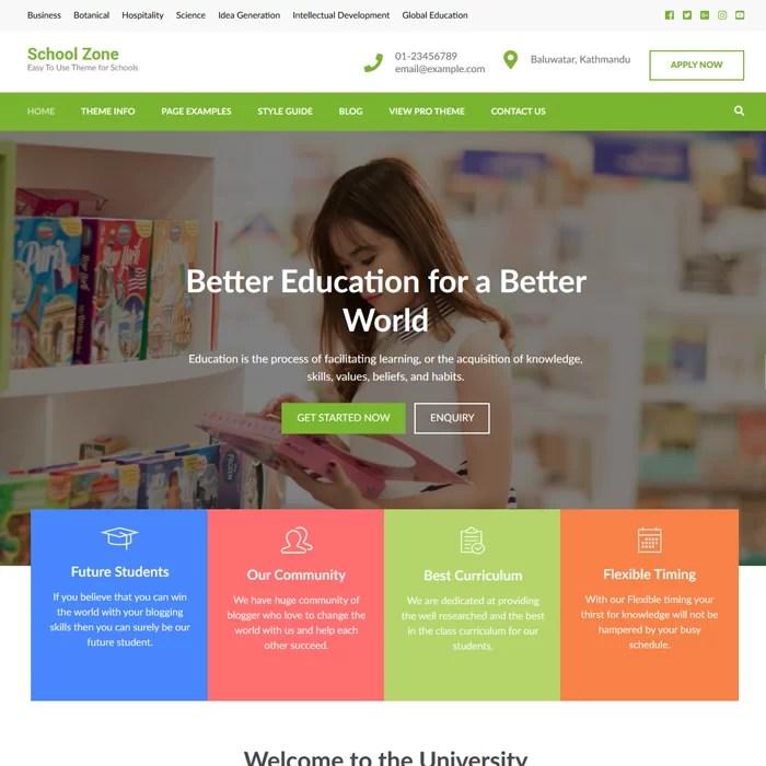 Beaytiful Dynamic Website – School Zone
