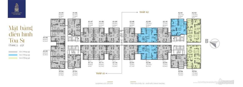22 kiểu căn hộ Tòa S1 Sunshine City Sài Gòn 1
