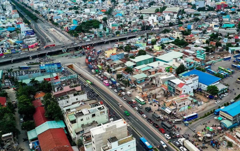 Cao tốc TP.HCM - Mộc Bài sẽ phá thế độc đạo của quốc lộ 22, giúp phương tiện từ cửa khẩu Mộc Bài về thành phố nhanh hơn. (Ảnh: Quỳnh Danh)