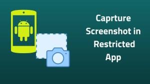 Caprture Screenshot in Restricted App