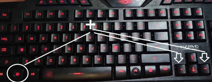split screen on windows 10 keyboard shortcut
