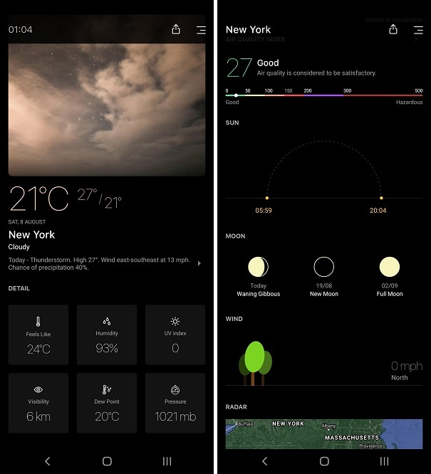 Best Weather Apps for Android - Today weather
