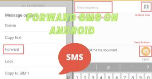 How to forward text messages on android