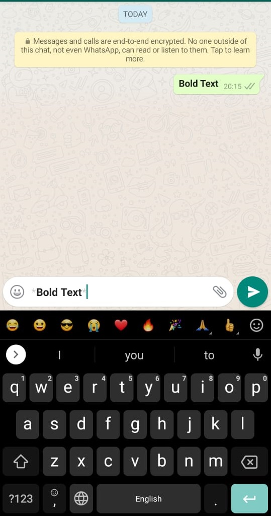 How to bold whatsapp text