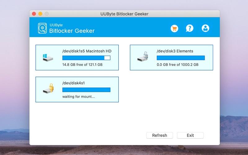Open BitLocker Drive on Mac