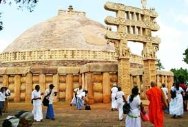 Buddhist Temples Sanchi India