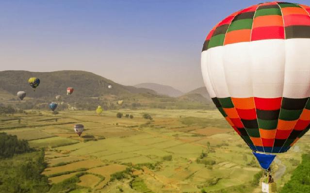 hotair ballown safari Bandhavgarh