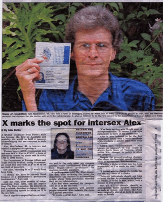 'X marks the spot' in the Western Australian newspaper, Perth 11 January 2003. Read at Bodies Like Ours