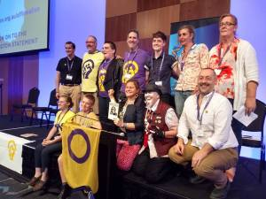 Intersex panel participants at the Health in Difference conference, 2018