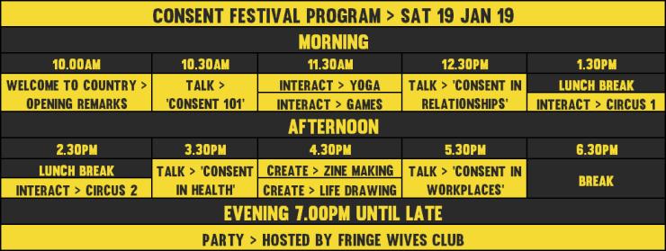 Consent Festival program