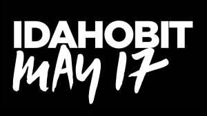 IDAHOBIT logotype, white text on black
