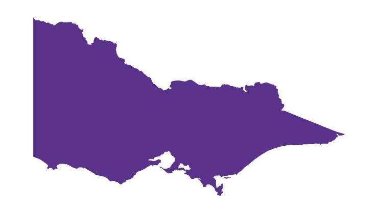 the shape of Victoria, in purple