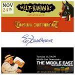 Melt-Banana-Exuswama-Captain-Cutthroat-Poster Concert Review - Melt-Banana - 11.24.09 at Middle East (with Captain Cutthroat / Exusamwa)