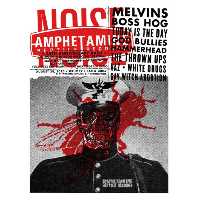 Amphetamine Reptile 25th Anniversary Bash Poster