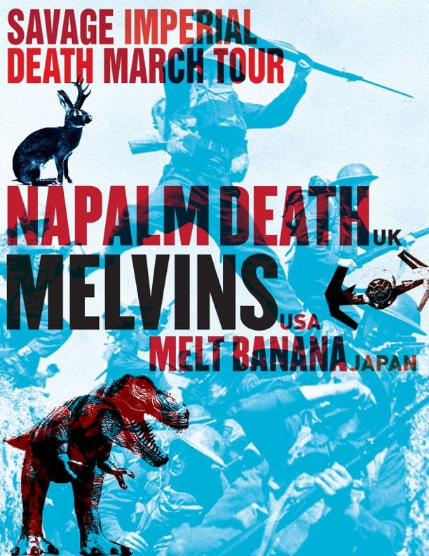 Napalm Death-Melvins-Melt-Banana Tour 2016
