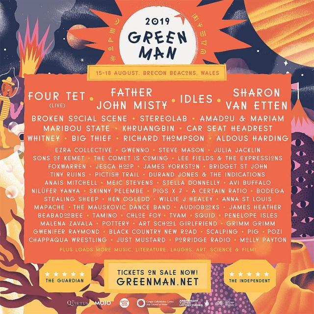 Green Man Festival 2019 Poster